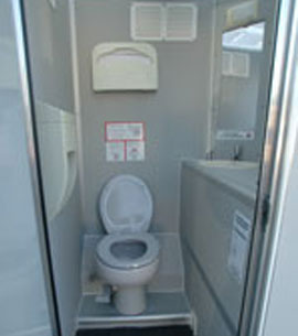 ... 4 Or 2 Stall Self Contained Nu Concept Vip Restroom Trailer   Interior