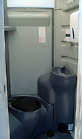 Flushing Portable Toilet - Interior
