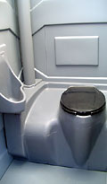 Standard Portable Toilet - Interior